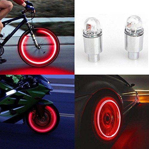 MMLC 2 stücke LED Wasserdichte Reifen Ventilkappen Neonlicht Auto...