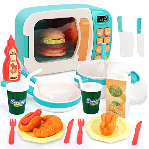 BeebeeRun Kinder Mikrowelle Spielzeug Kinder Küche Spielzeug,Kinder...
