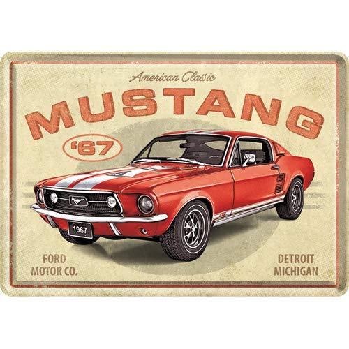 Nostalgic-Art, Retro Grußkarte, Ford Mustang – Geschenk-Idee für...