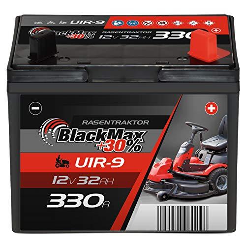 BlackMax U1R (Pluspol rechts) +30% Garden Power Rasentraktor-Batterie...