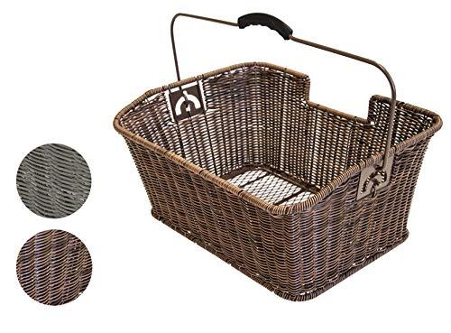 Büchel Fahrrad-Gepäckträgerkorb, hochwertiges Polyrattan, einfache...