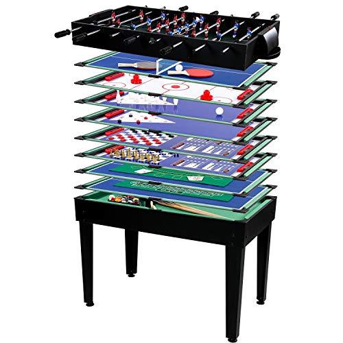 Maxstore Multigame Spieletisch Mega 15 in 1, inkl. komplettem...