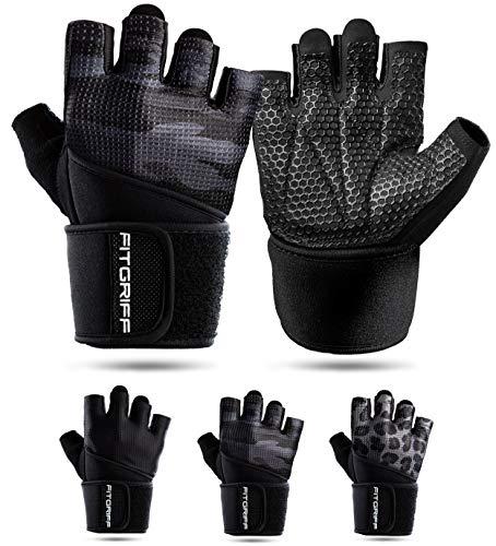 Fitgriff® Fitness Handschuhe V2, Trainingshandschuhe, Sporthandschuhe...