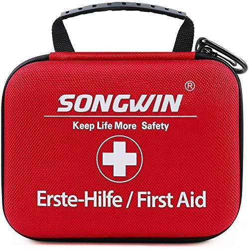Songwin Erste Hilfe Set, Wasserdicht Verbandskasten Mini Erste Hilfe...