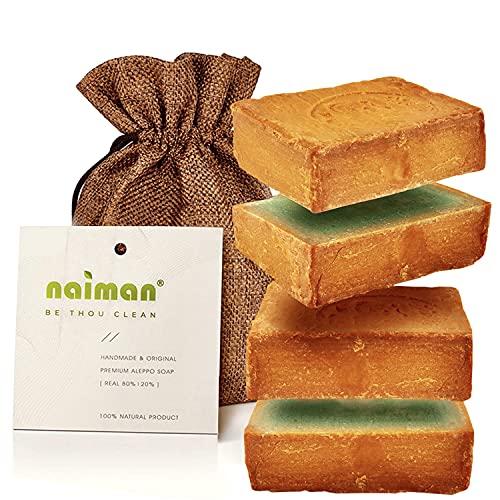 Naiman® Aleppo Seife [20%] - Premium Qualität - 400g VORGESCHNITTEN...