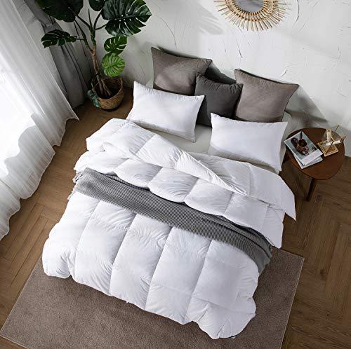 Amazon Brand - Umi Bettdecke 155x220cm Winterdecke Daunedeck mit...