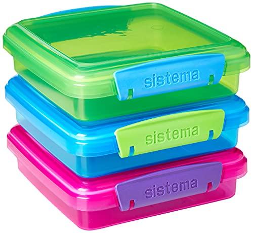 Sistema 41647 Lunch Sandwich Box mit kontrastierendem Clips, 450ml,...