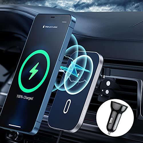 Magnetisches kabelloses Auto ladegerät Kompatibel mit iPhone 12/12...