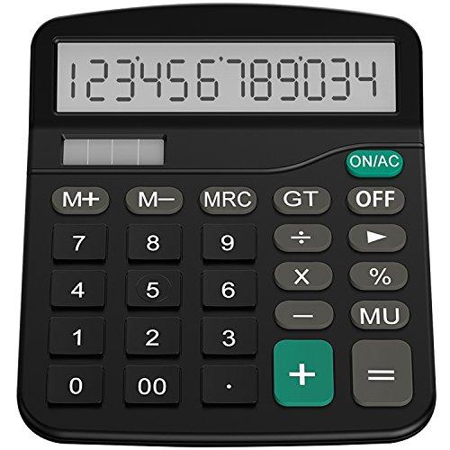 Helect Taschenrechner, Standard-Taschenrechner Dual-Power (Solar und...