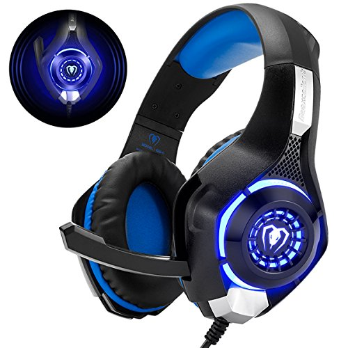 Gaming Headset für PS4 PS5 PC Xbox One, LED Licht Crystal Clarity...