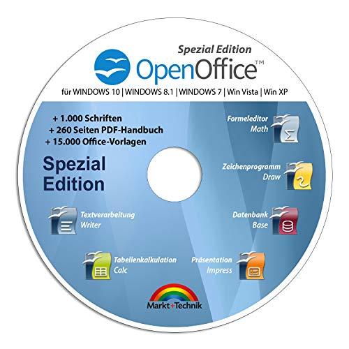 Open Office Spezial-Edition für Windows 10-8-7-Vista-XP | PC-Software...