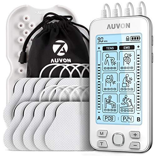 AUVON 4 Kanäle TENS Gerät EMS Trainingsgerät für Schmerzlinderung...