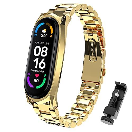 SenMore Armband Kompatibel mit Xiaomi Band 6 Metall Ersatzbänder für...