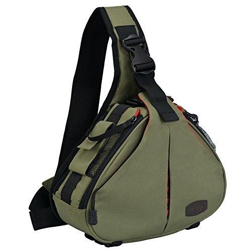 CADeN Kompakte Kameratasche Sling Schulter Cross Bag Foto...
