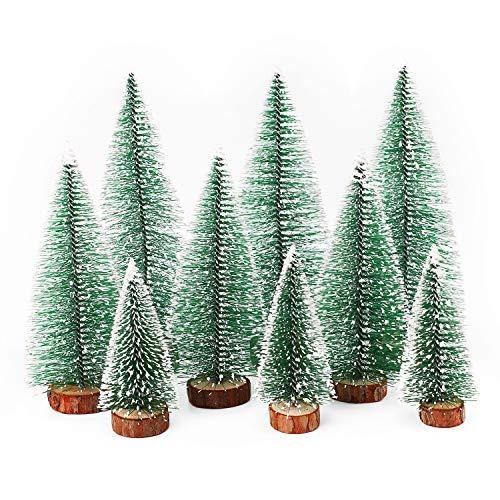 Herefun Mini Weihnachtsbaum Künstlicher, 9 Stück Mini Tannenbaum...