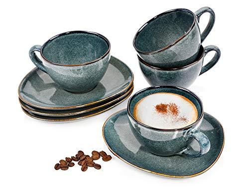 Kaffeetassen Set Dawin 8 teiliges Tassen Set für 4 Personen aus...