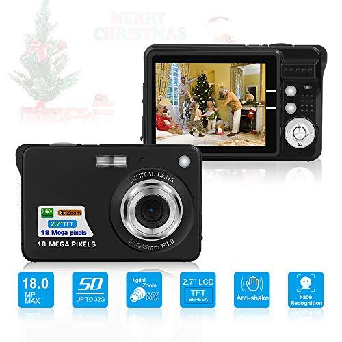 Digitalkamera, Foto Kamera Digital 2,7 Zoll 18 MP HD Mini...