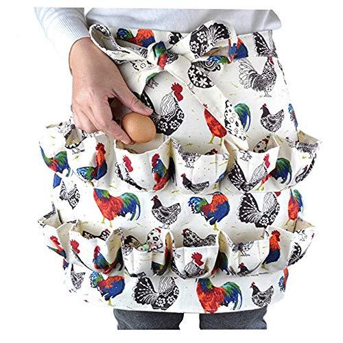 KDOI Eier Sammeln Halte Schürze Geeignet für Huhn, Ente, Gänse Ei,...