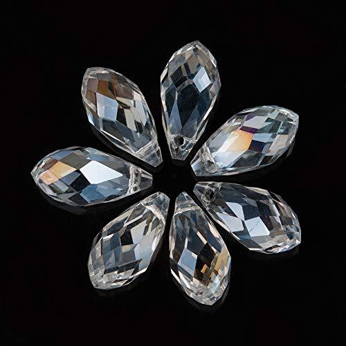 Houlife Zubehör 100Stk 17mm Bicolor Tropfen- Form Glas Perlen Spacer...