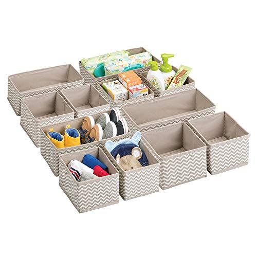 mDesign Aufbewahrungsboxen aus Stoff im 12er Set – Stoffbox in zwei...