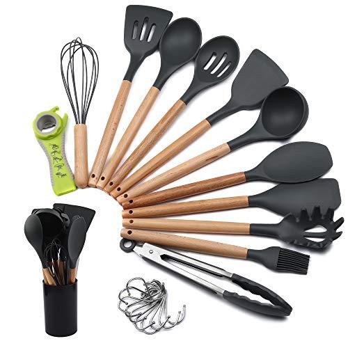 mreechan Küchenhelfer Set, Silikon-Kochgeschirr 23 Stück,...