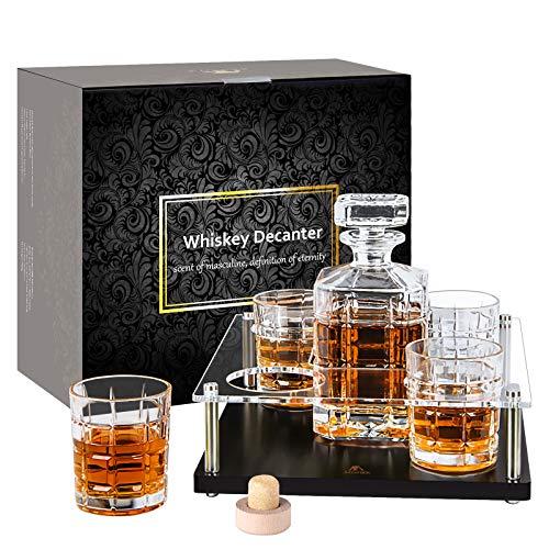 Whisky-Karaffe-Set-Glaskaraffe-whiskey-Gläser-Probierset Bourbon...