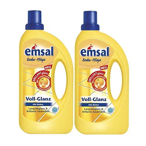 2x emsal Boden-Pflege Voll-Glanz 1 Liter, Langzeitglanz & Brillante...