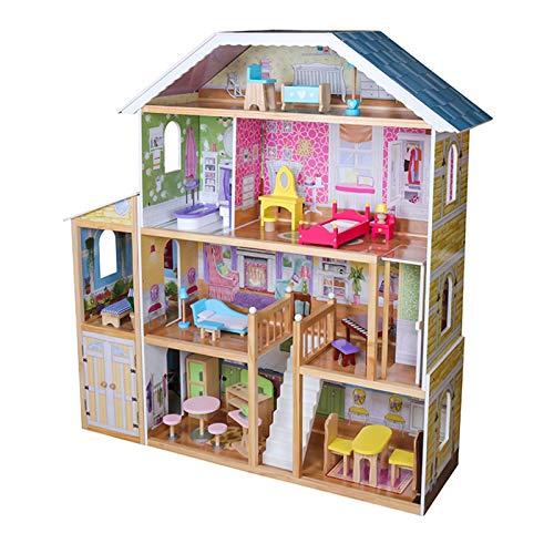 Infantastic® Puppenhaus aus Holz - XXXL, 4 Spielebenen, Spielset mit...