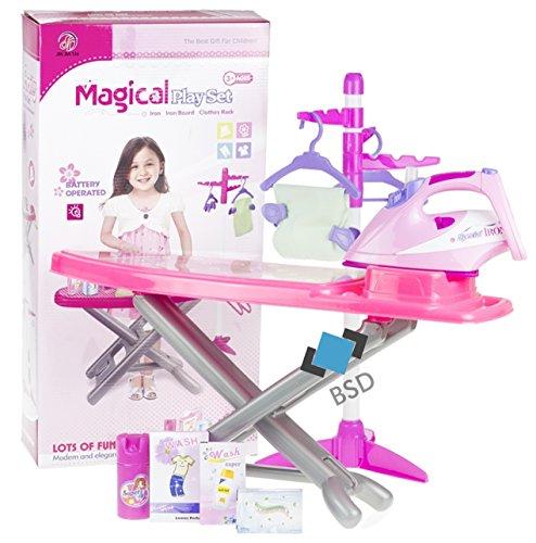 Haushaltsset für Kinder - Bügeleisen mit Lichteffekt, Bügelbrett,...