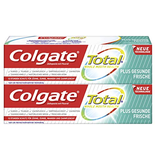 Colgate Total Zahnpasta Plus Gesunde Frische, Doppelpack (2 x 75 ml) -...