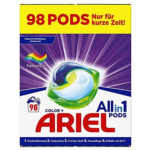 Ariel Waschmittel Pods All-in-1, Color Waschmittel, 98 Waschladungen...