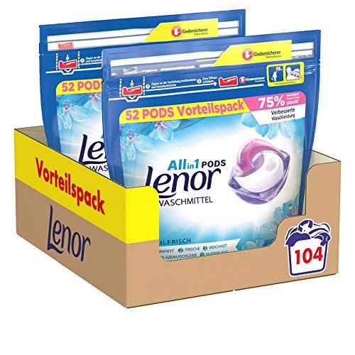 Lenor Waschmittel Pods All-in-1, 104 Waschladungen, Lenor Aprilfrisch...
