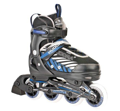 HUDORA Kinder Inliner Leon - Gr. 37 - 40, schwarz/blau - Inline-Skates...