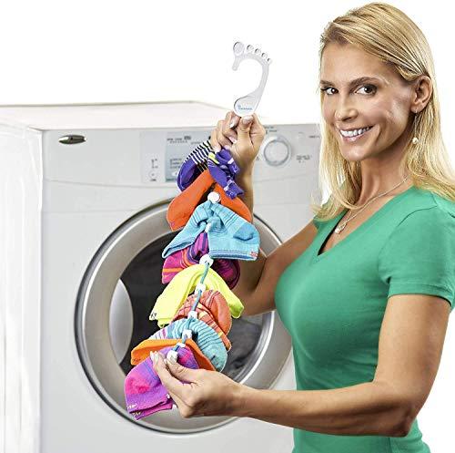 SockDock Sockenwäschewerkzeug & Aufhänger zum Waschen, Trocknen und...