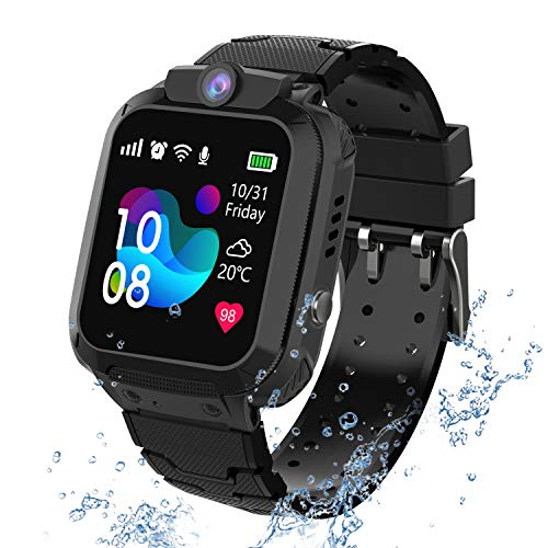 PTHTECHUS Wasserdichtes Kinder Smartwatch Telefon - Touchscreen Kinder...