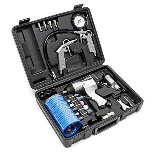 Druckluftwerkzeug-Set 27tlg inklusive Druckluftpistole und zahlreichem...