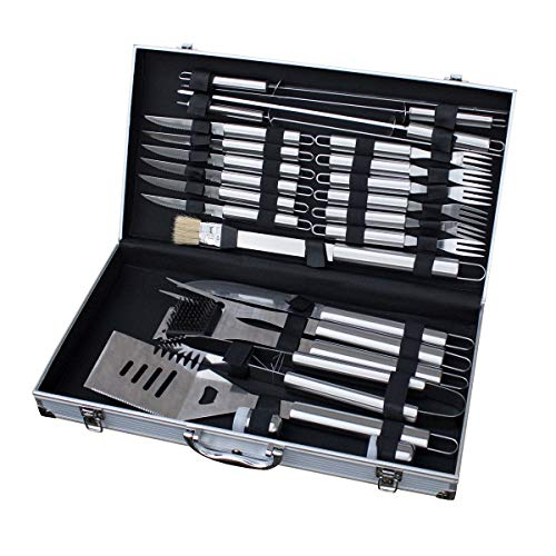 TAINO Grillbesteck Koffer 18-TLG. oder 24-TLG. Edelstahl Grillkoffer...