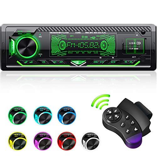 CENXINY Autoradio mit Bluetooth Freisprecheinrichtung, 7 Farben Licht...