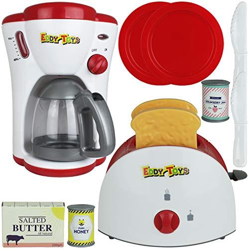 TW4 Spielzeug Toaster und Kaffeemaschine Frühstücks Set Licht...