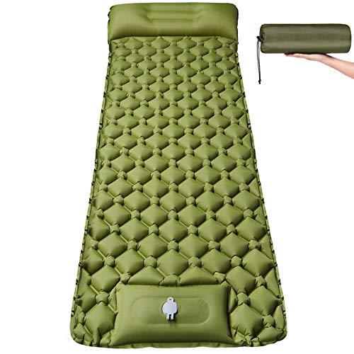Isomatte Camping Selbstaufblasbare mit Fußpresse Pumpe - Ultraleichte...