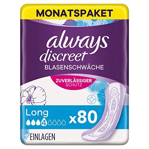 Always Discreet Inkontinenzeinlagen Long (80 Binden) Monatspaket,...