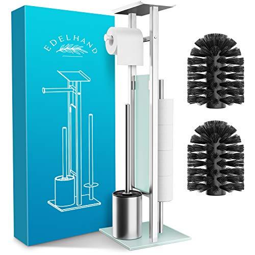 EDELHAND© Toilettenpapierhalter stehend als WC Garnitur [mit GRATIS...