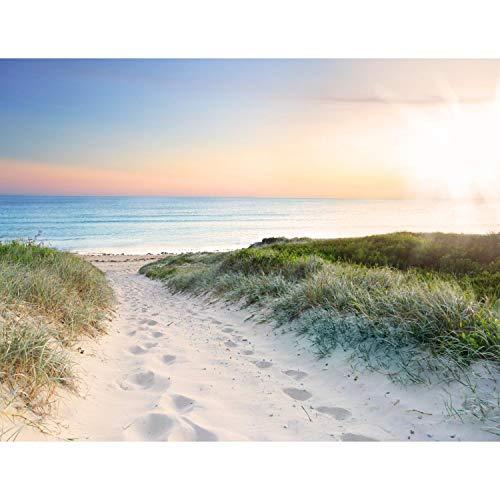 Fototapete Strand und Meer Sonnenuntergang 352 x 250 cm Vlies Tapeten...