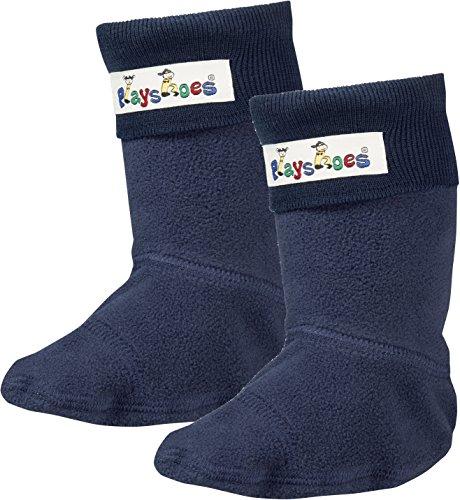 Playshoes Mädchen Fleece-Stiefel Socken, Blau Marine, 26/27 EU