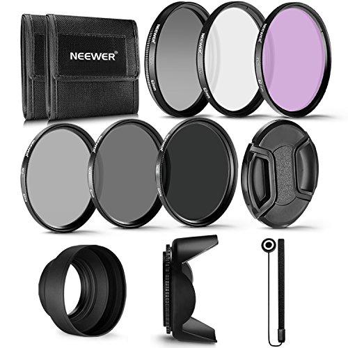 Neewer 62-mm-Filter Professioneller UV-, CPL-, FLD-Objektivfilter und...