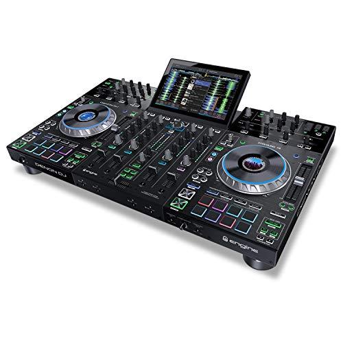 Denon DJ Prime 4 | 4 Deck Standalone Smart DJ Konsole/Serato DJ...