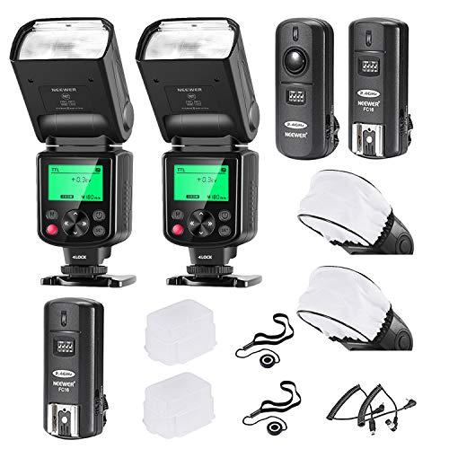 Neewer 2er-Pack 750II TTL-Blitz mit LCD Display Kit für Nikon DSLR...