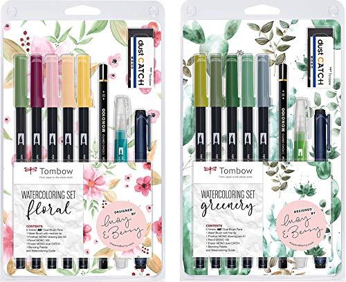 Tombow Watercoloring Set (Floral + Greenery Bundle Kit) inkl....