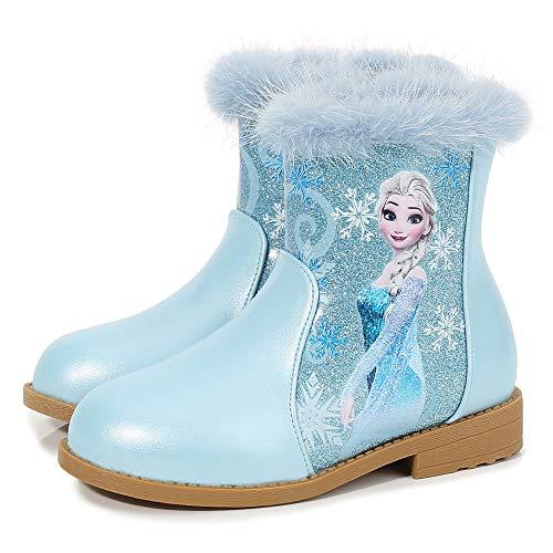 FStory&Winyee Schneestiefel Mädchen Prinzessin Schuhe ELSA Stiefel...