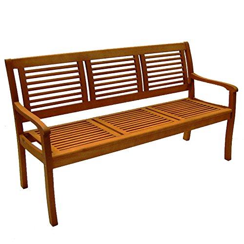 Casaya Gartenbank Paolo 3-Sitzer aus Eukalyptus Hartholz Holzbank in...